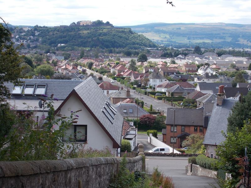 View on the climb up from Causewayhead. - Stirling