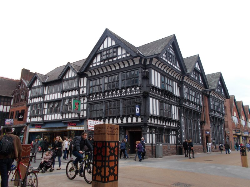 Old wooden buildings, Chester.