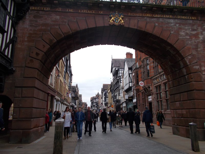 Looking through the Eastgate.