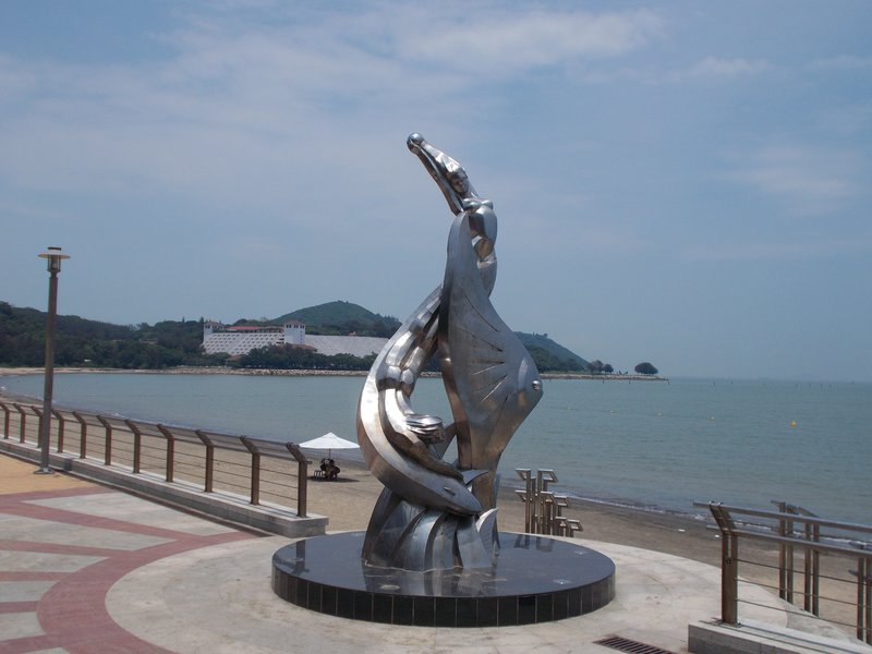 Mermaid statue.