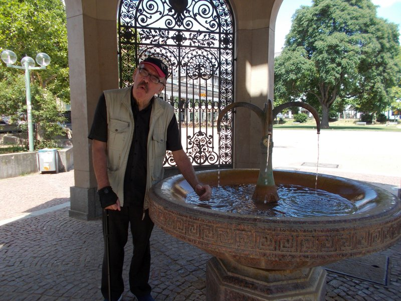 Peter at a hot spring.