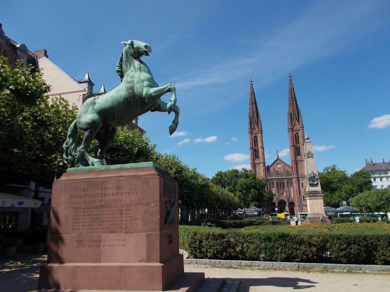 Luisenplatz and St Boniface Church.