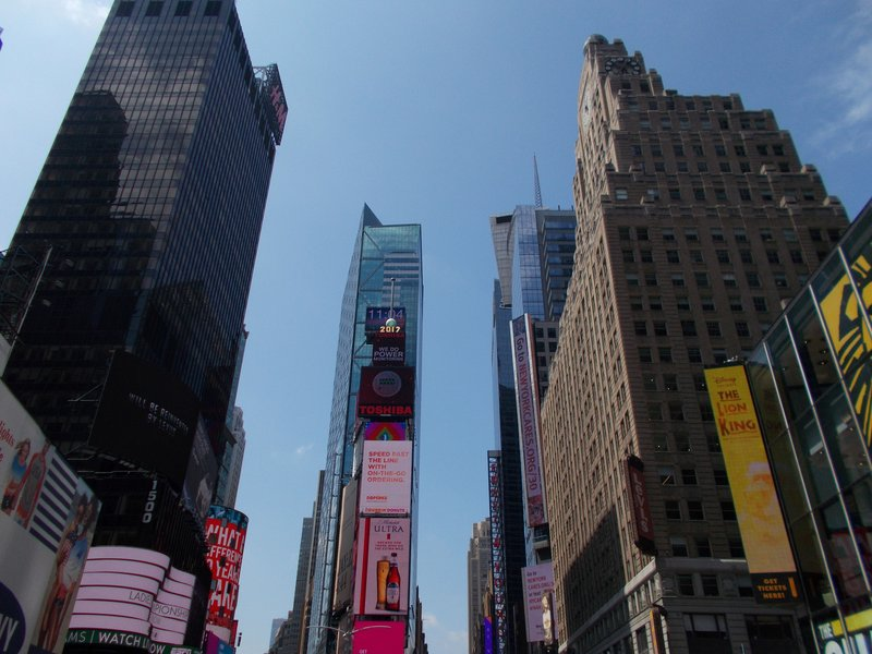 Times Square by day.