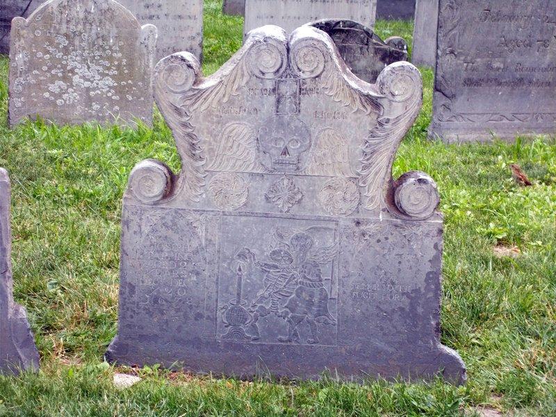 The loveliest tombstone in Boston.