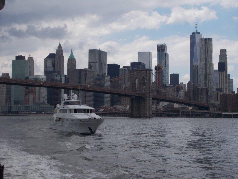 The beautiful Brooklyn Bridge.
