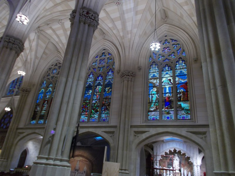 Inside St. Patrick's Cathedral.