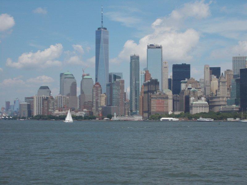 View of Manhattan on return journey.