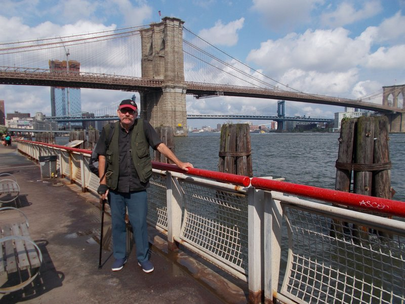 Peter near the Brooklyn Bridge.