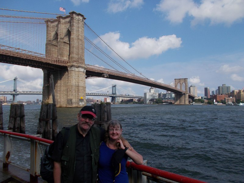 Peter and I at the Brooklyn Bridge.