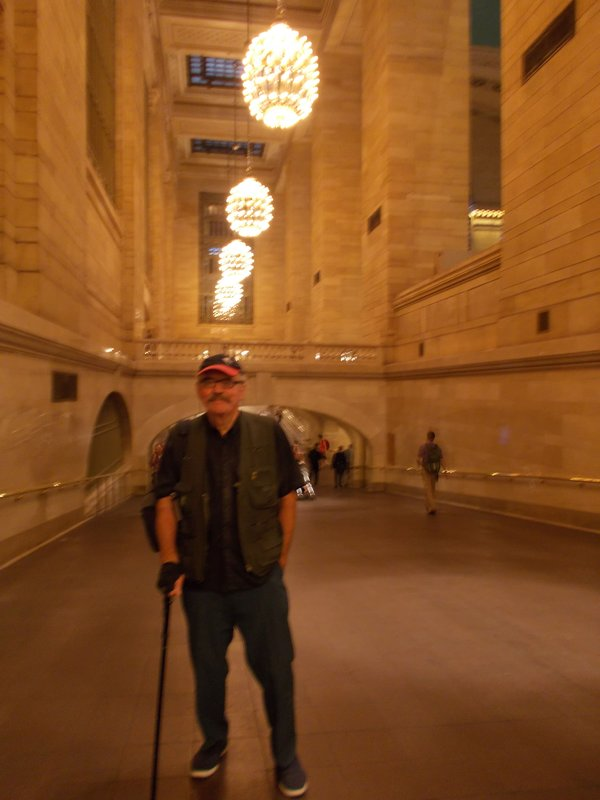 Peter in Grand Central Station.
