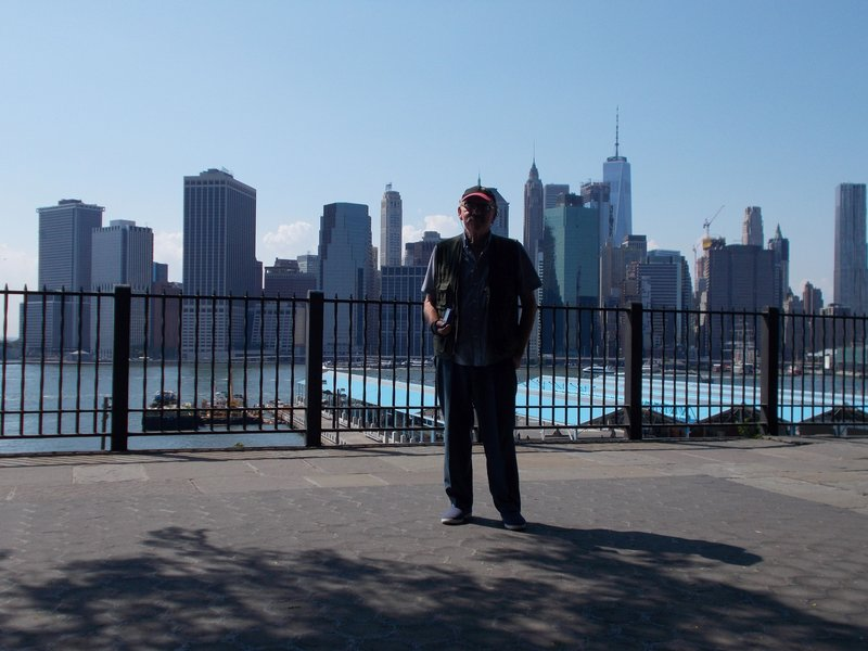Peter on the Brooklyn Heights Promenade.
