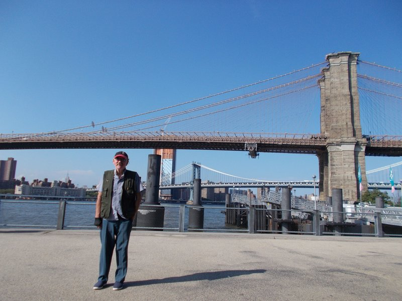 The Brooklyn and Manhattan bridges.