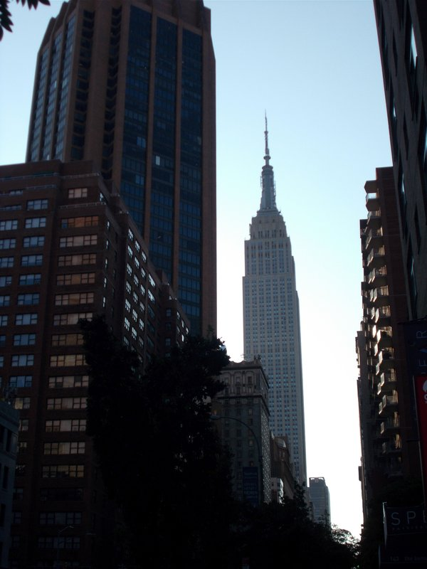 A view of the Empire State Building.