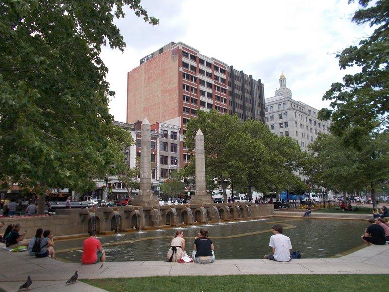 Fountain, Copley Square.