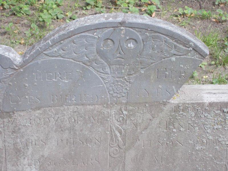 Death's head gravestone.