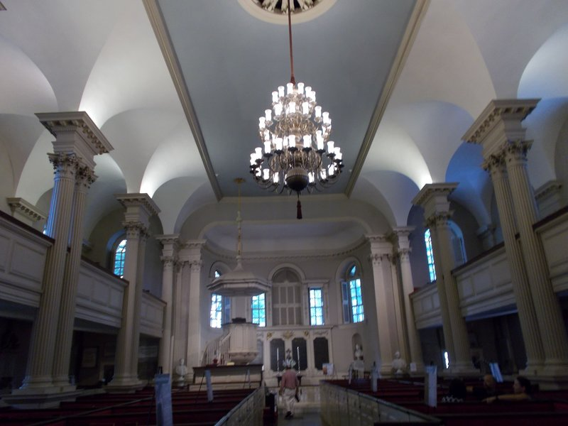 Inside King's Chapel.