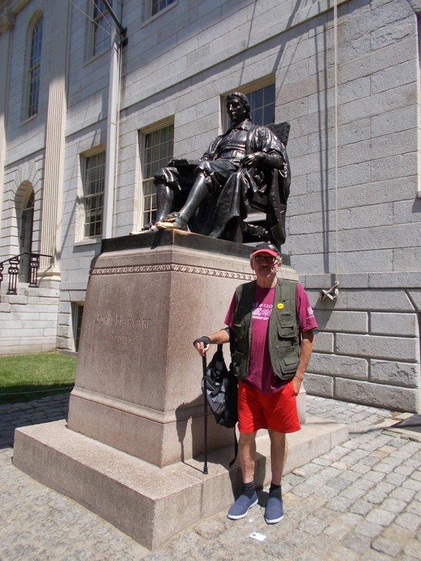 Peter with John Harvard.