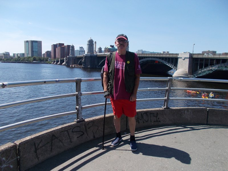 Peter next to the Charles River.