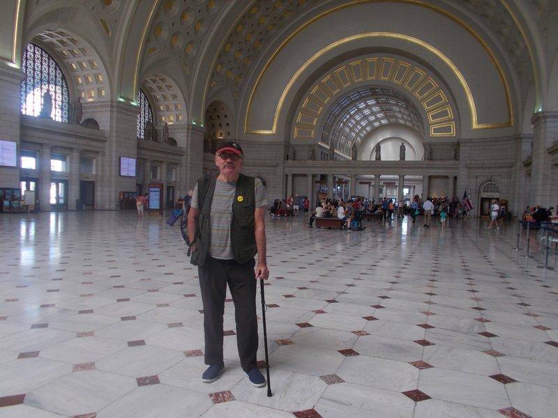 Inside Union Station.