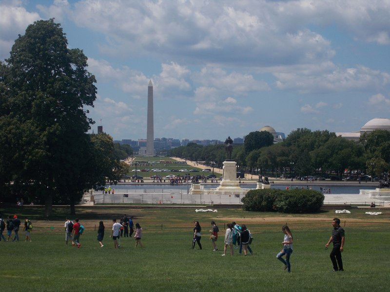 Looking from the Capitol to the Washington Monument.
