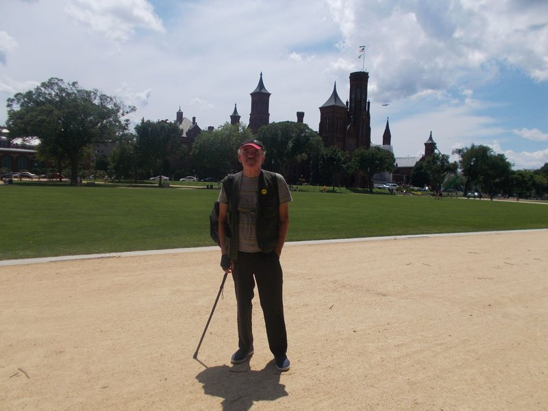 Peter with the Smithsonian behind him.