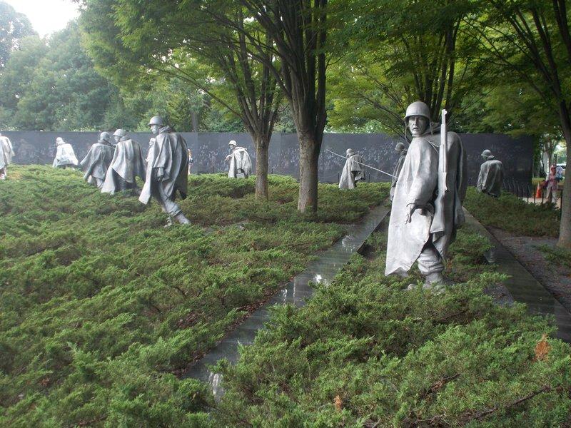 The Korean War Memorial.