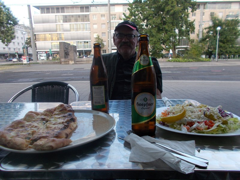 Dinner in a Turkish kebab house.