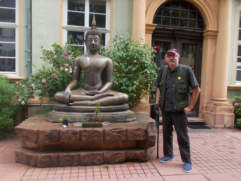 Peter outside the Ethnographical Museum.