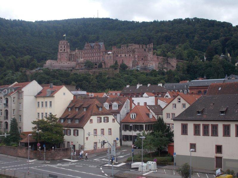 Heidelberg Castle from the Old Bridge.