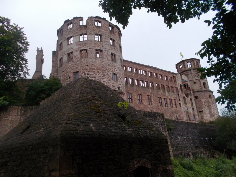 Close up of the ruins of Heidelberg Castle.