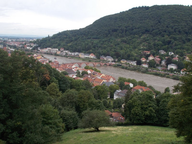 View over Heidelberg from the castle gardens.