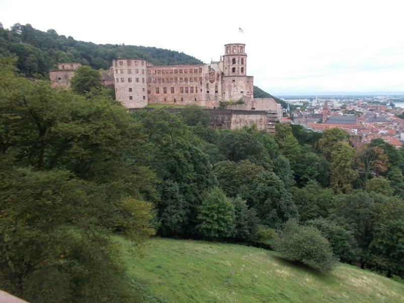 View back towards Heidelberg Castle.
