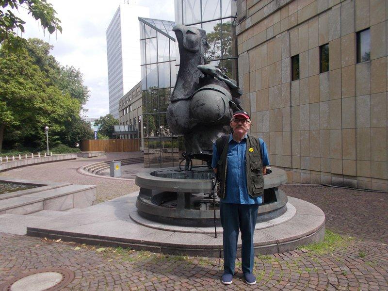 Phoenix statue, Karlsruhe.