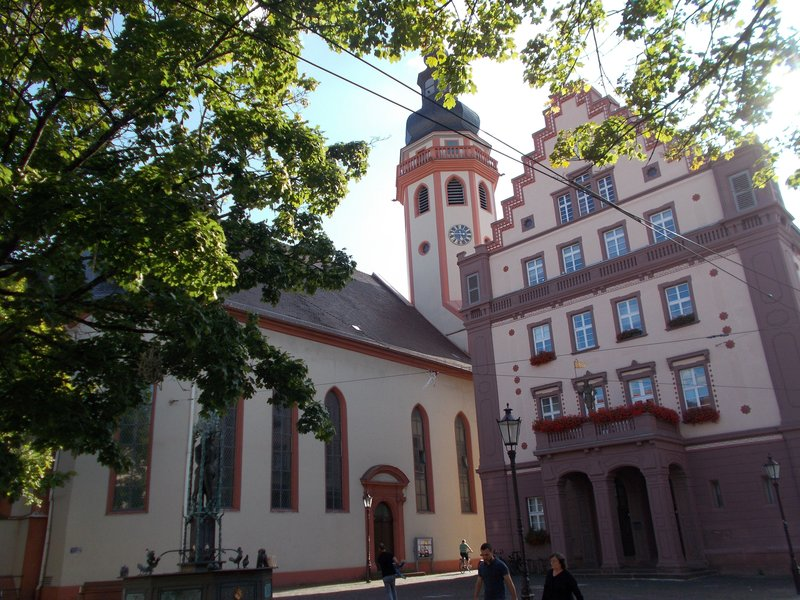 Market Square, Church and Town Hall.