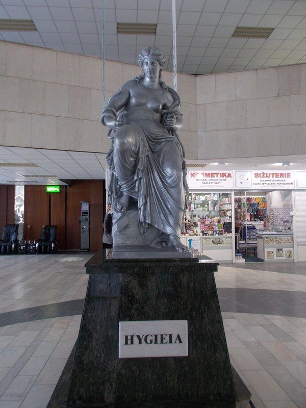 The goddess Hygeia, I think she was following us.