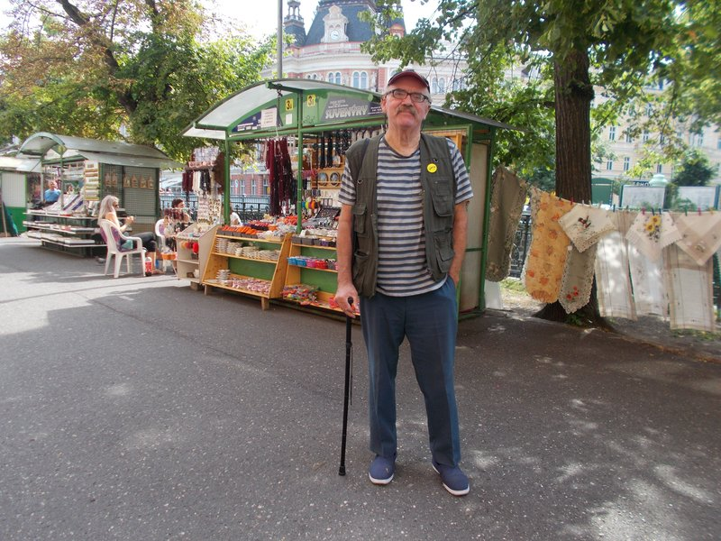 Peter at the market.