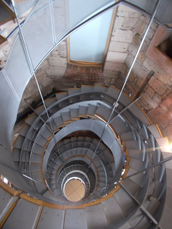 Stairway up the tower.