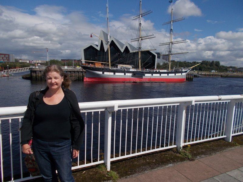Looking back at Riverside and the Glenlee from Govan.