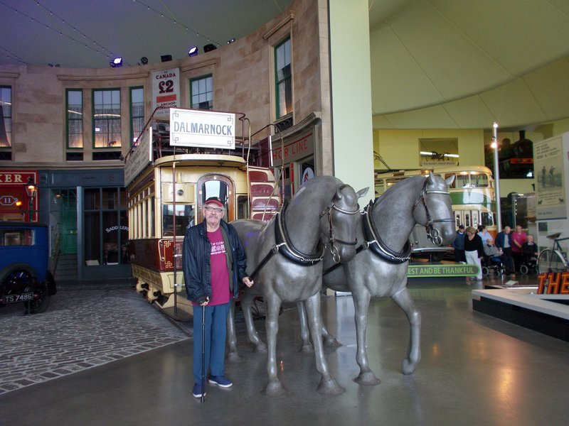 In the transport museum.