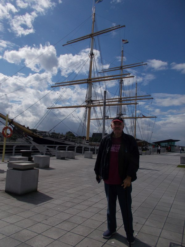Peter with the Glenlee.