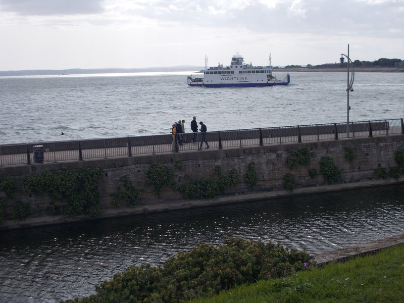 View of Isle of Wight ferry.