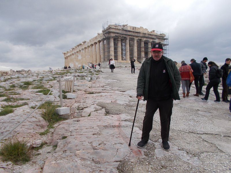 First view of the Parthenon.