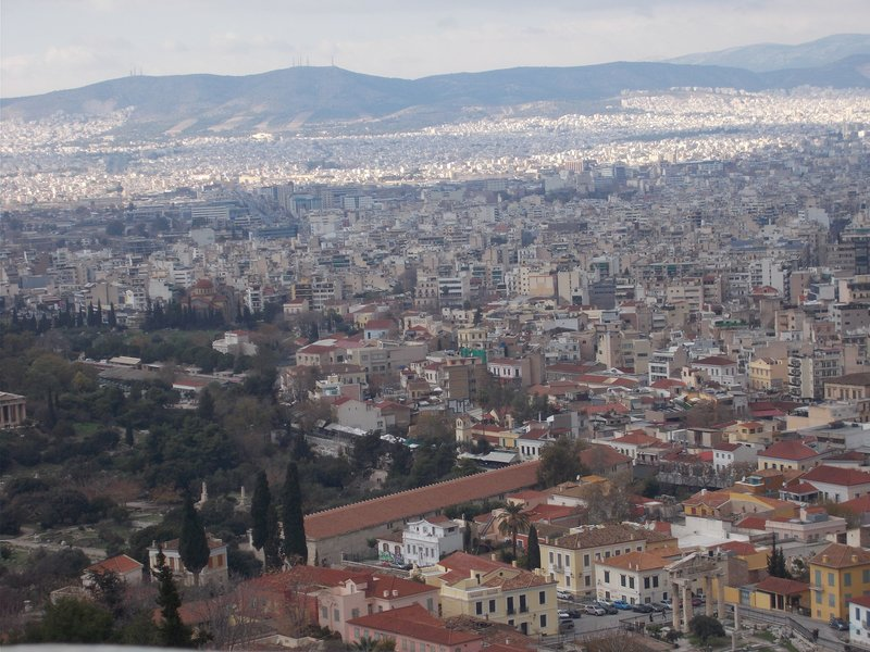 View over Ancient Agora.
