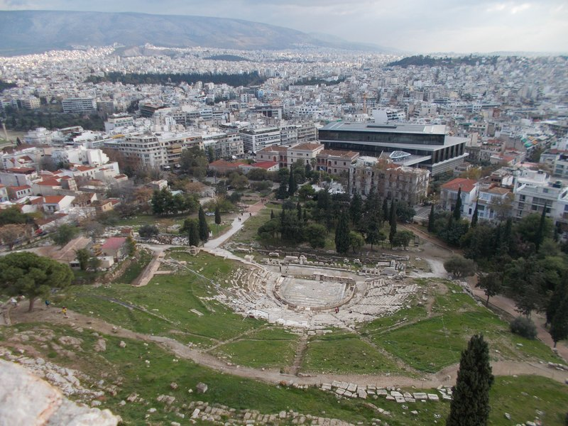 View over Theatre of Dionysus.