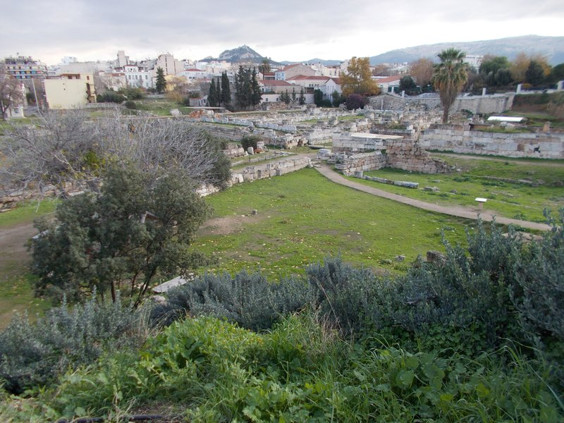Looking across inner Kerameikos.