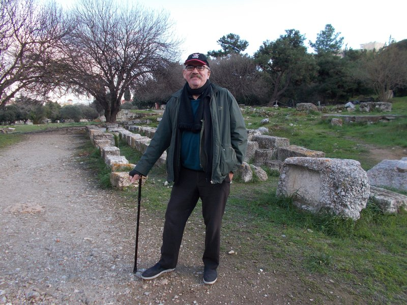Peter at Ancient Agora.