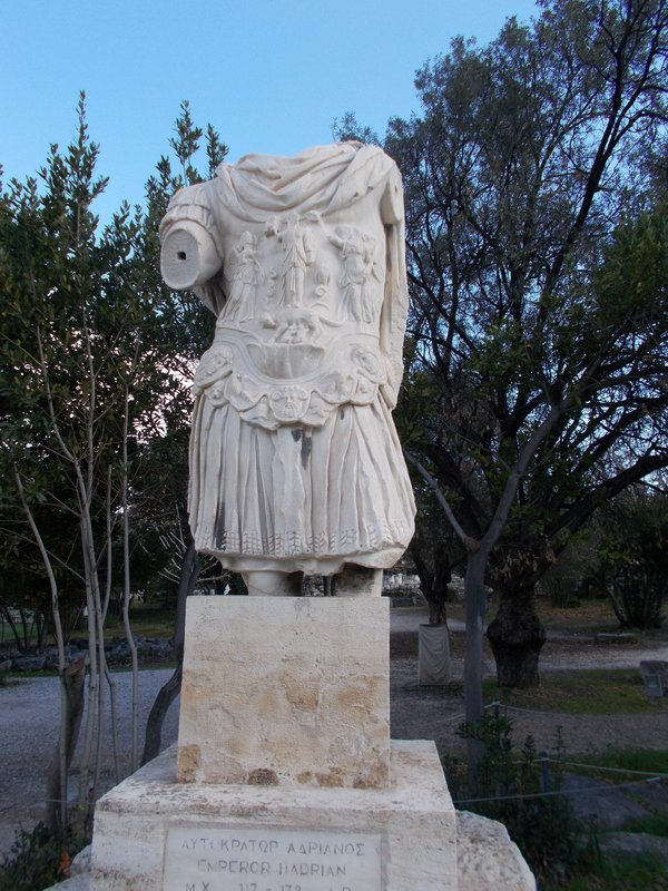 Statue of Emperor Hadrian Ancient Agora.