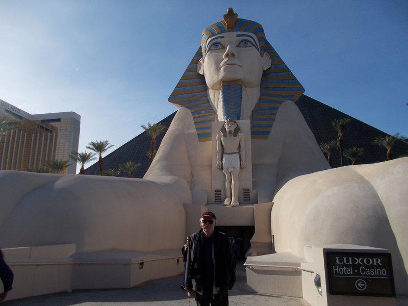 The Luxor Hotel.