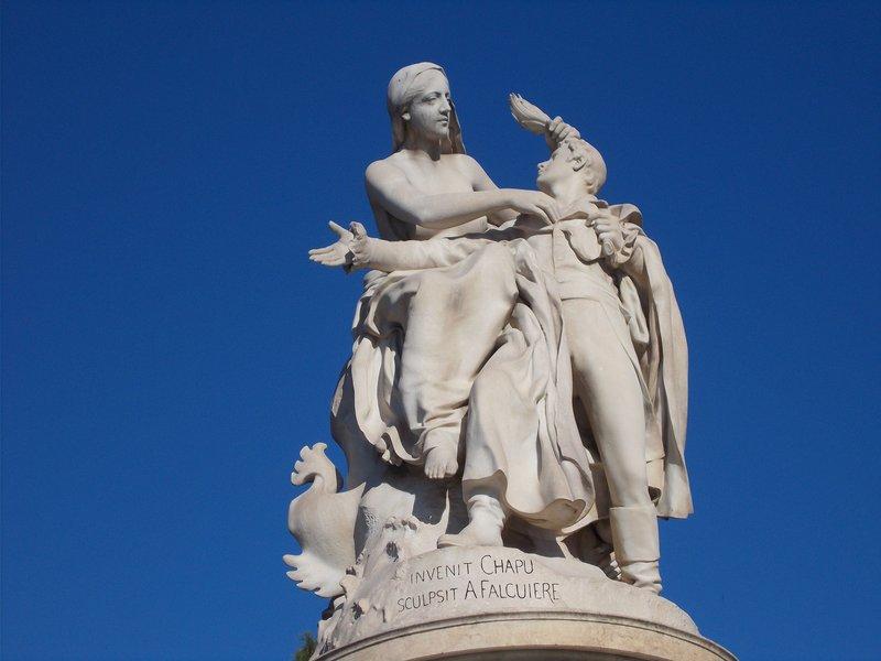 Byron statue.