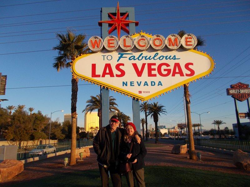 The famous Las Vegas sign.